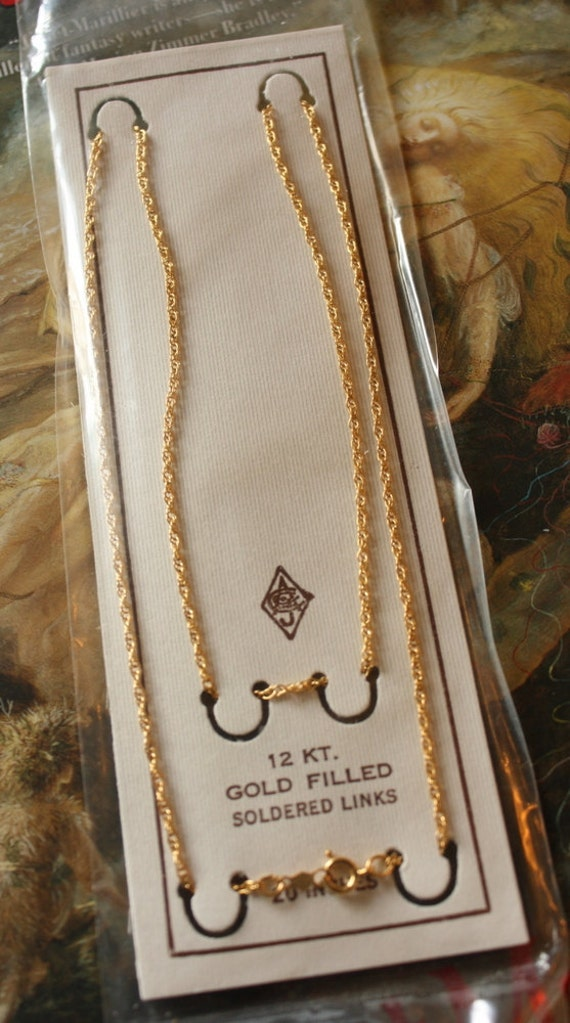 """Rare OLD Vintage 12KT GOLD Filled Chain Jewelers Stock - 20"""""""
