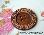 Giant 60mm Coffee Design Wooden Button Accessories