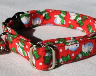 Snowmen Christmas Cat Collar