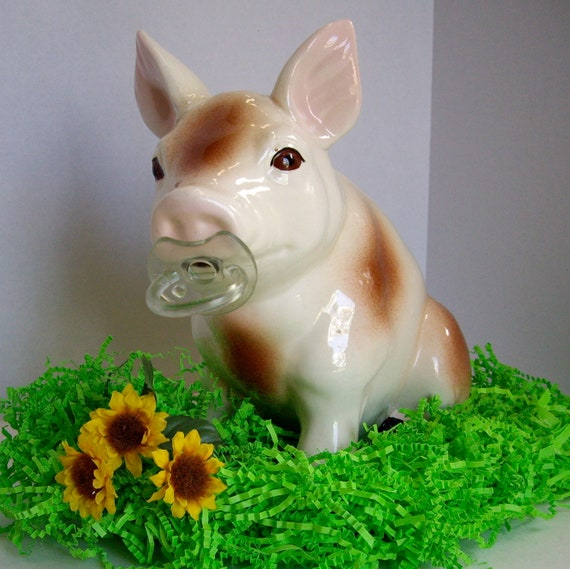 Vintage Piggy Bank Baby Shower Collectible 1985