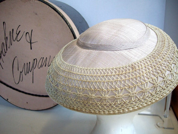 Vintage Hat Box Plus three Hats One Listing 1950s