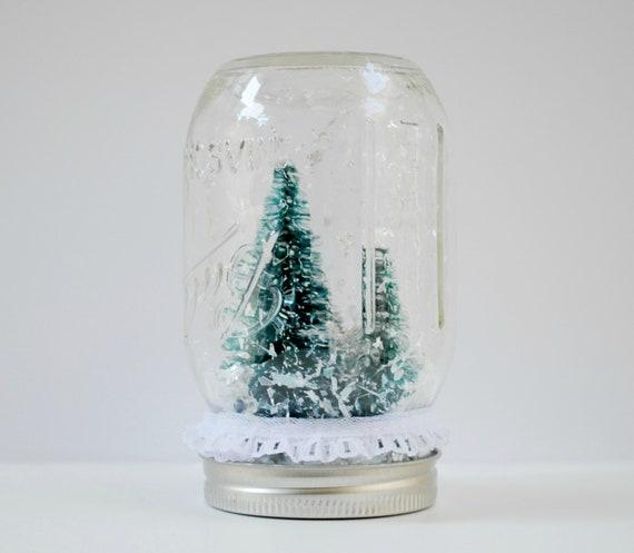 Shabby Chic snow globe mason jar