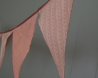 Soft Double Sided Baby Pink Prayer Flags Banner Bunting