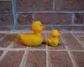 vintage rubber squeaky toy duck