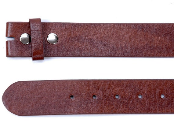 Women's Brown Leather Snap on Removable Belt Strap