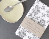 Floral Cotton Tea Towel - Hand Screen Printed