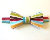 Rainbow Striped Boys Bow Tie - Newborn, Toddler, Child- As seen on BrideFinds.com