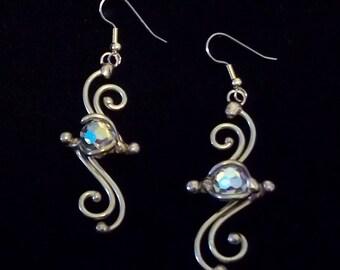 Bronze & Crystal Earrings (dsn-6)