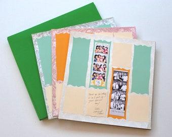 Photobooth Scrap Book Wedding Guest Book