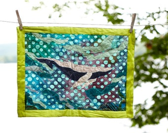 Humpback Whale Quilted Wall Hanging