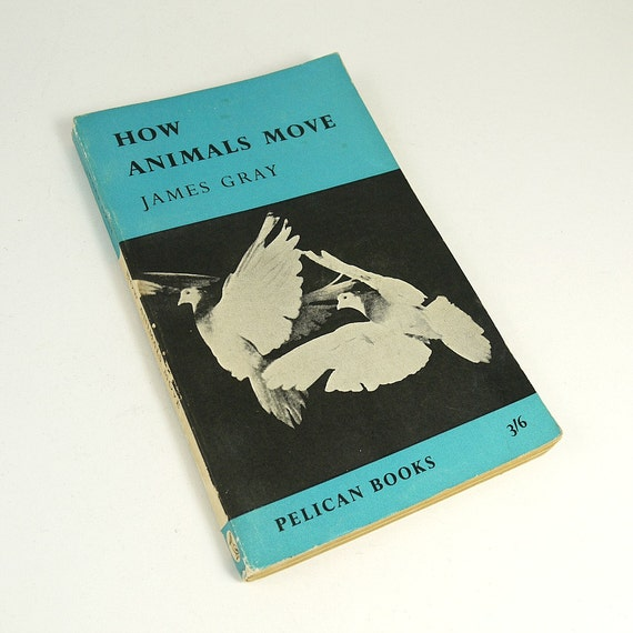Vintage 1959 Pelican Penguin Book 'How Animals Move' by James Gray - great reference for zoologists and artists