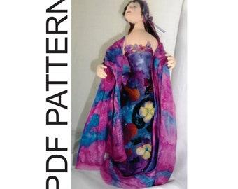 PDF Sewing Pattern Midnight Garden Stump Doll