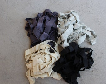 Fold over elastic  4  colors 2 of each color 5/8 inch wide