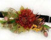 Wedding flowers CORSAGE DOG COLLAR Autumn