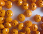 Orange Faceted Acrylic Beads 11mm 20 Beads