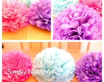 1  TABLE CENTERPIECE... Tissue Paper Pom Pom....Table Pom...Wedding Centerpiece