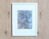25% OFF- Boston Vintage Street Map, Blue Gray Old Print Style 8x10