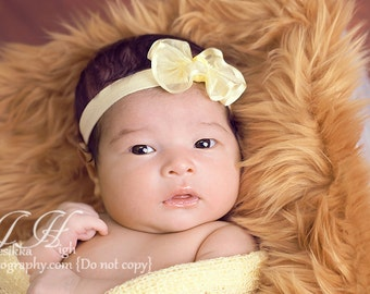 """Caramel Faux Fur Rug- Photography Prop Blanket Nest Basket 20"""" x 20"""" 9 colors to choose from"""