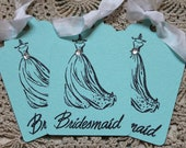 6 Tiffany Blue Bridesmaid Gift Tags/Wedding Shower Favor Tags