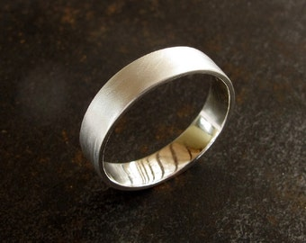 Wedding Band For Men - Made to Order Silver Wedding Band For Him , Mens Wedding Band, Men's Jewelry