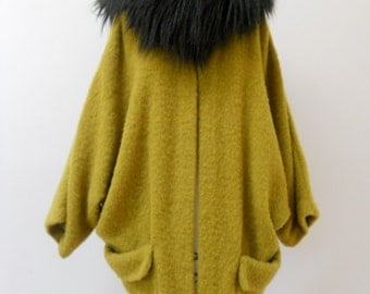 Amazing Maria Severyna Alpaca Wool Oversized Top Coat