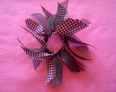 Pink and Black Plaid Hair Tie - Custom Order