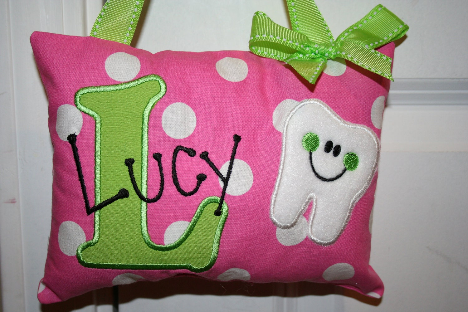 Tooth Fairy Pillow for Girls Personalized Polka by ...