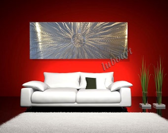 art Wall Decor 3D effect LED RGB Halogen Metal light reflective Large horizontal vertical office home Energy ball Sculpture hand made  Lubo