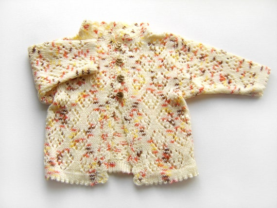 Knitted Baby Cardigan - Yellow, 3 - 6 months