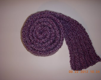 SALE Handmade Knit Lion Brand Homespun Soft Chunky Winter Scarf Purple