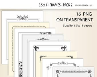 16 Clipart Design Elements for invitations, scrapbooking, photography, frame clip art, digital border,  digital frames 529