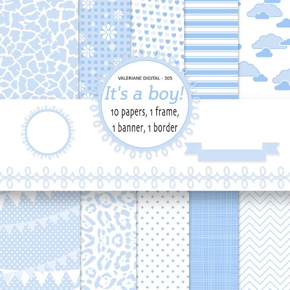 Items Similar To Baby Boy Digital Paper Backgrounds Baby