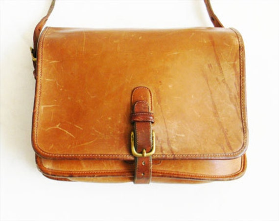 Vintage Leather Coach Bag Crossbody New York