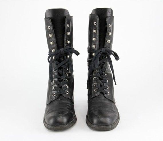 90s Avant Garde Combat Boots Minimalist Goth By