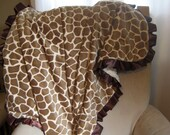 DELUXE Double Minky Blanket with Ruffled Satin Trim