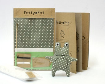 Make Your Own Petty-Pet Froggy Sewing Kit