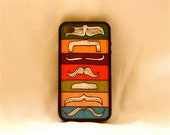 A Man of Variety, iPhone case, iPhone cover, iPhone 4/4s, mustaches, colorful, hipster, trendy, unique, fun, quirky, men, woman, teens, kids