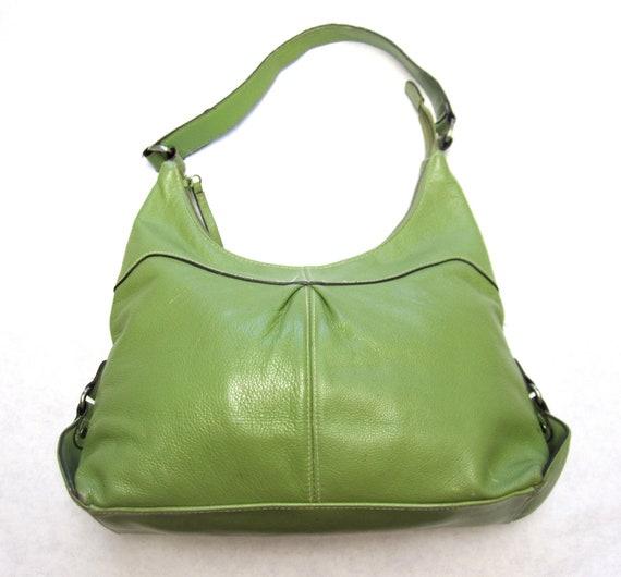 Vintage Purse Earthy Sage Green Handbag Hobo Bag