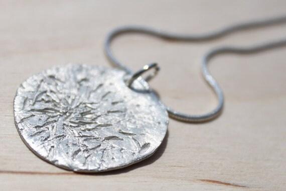 Fine Silver Dandelion Wish Necklace (3)
