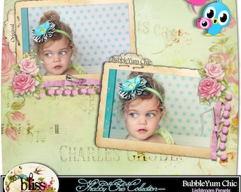 "Instant Download-Lightroom Presets - ""BubbleYum Chic - Shabby Chic Collection"""
