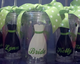 Wedding Tumblers - Bride, Bridesmaid, Groom, mother of the bride, mother of the groom - 16 oz BPA Free Tumbler