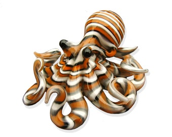 Clown Fish Striped Octopus pendant