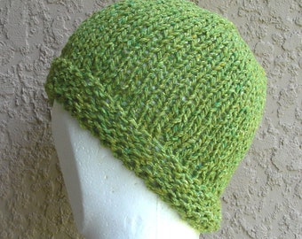 Cloche, Beanie, Slouch Hat, Skull Cap, Stocking cap, watchcap, longshoremans hat, womens in light green tweed