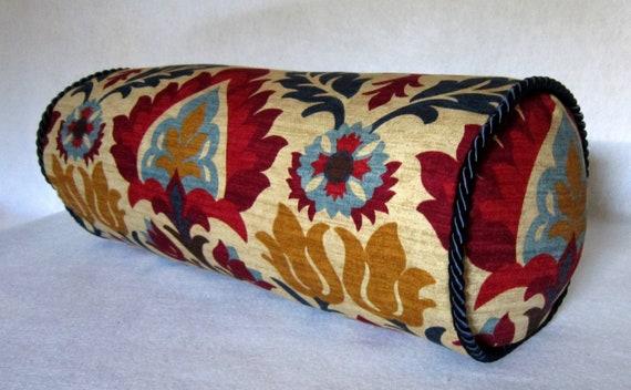 Bolster Pillow in Santa Maria Gem
