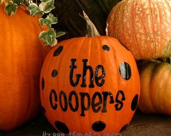Pumpkin name - Pumpkin monogram - Halloween Decor - Pumpkin Decal - Personalized Pumpkin - Halloween Decoration - Pumpkin Decal