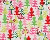 Christmas Tree Print Fitted Crib Sheet or Toddler Sheet - 100% Designer Cotton - Michael Miller