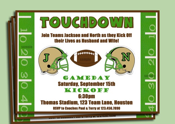 Football Couple's Shower Engagement Party Invitation