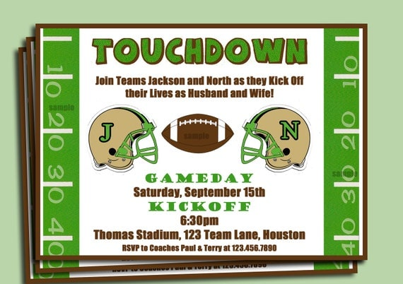 Football Couples Shower Engagement Party Invitation – Football Party Invites