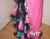 Restyled Prom Dress into Boho/Gypsy/Barbie ruffled long skirt