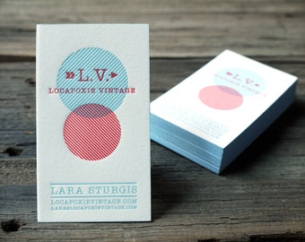 Custom Letterpress Business Card and Graphic Design Package w/ edge paint - 100qty